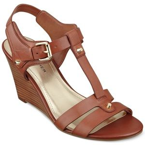 Marc Fisher - Cassy T-strap Wedge with Studs